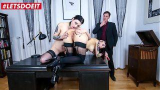 LETSDOEIT – #Leah Obscure #Alissa Noir – Hot Ass German Secretaries Lesbian Sex Under Boss's Supervision