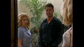 Practitioners of devil church Kiki Daire and Dale Dabone promise blonde schoolmiss Summer Storm college bills payment and premium medical insurance if she agrees to become member of their society
