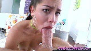 SWALLOWED Alina Lopez sloppy blowjob skills